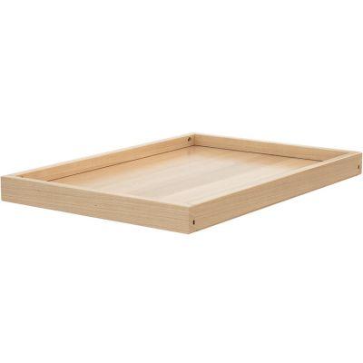 Étagère supplémentaire en bois de hêtre verni pour table à langer Confort