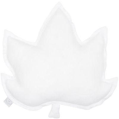 Coussin feuille d'érable blanc (43 cm)