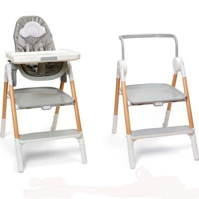 Chaise haute évolutive Sit-To-Step gris et blanc