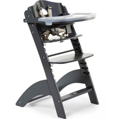 Chaise haute évolutive en bois Lambda 3 anthracite
