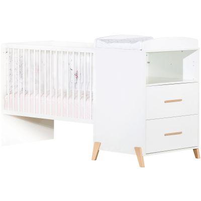 Lit bébé combiné évolutif Joy naturel (60 x 120 cm)