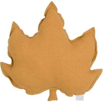 Coussin feuille d'érable caramel (43 cm)