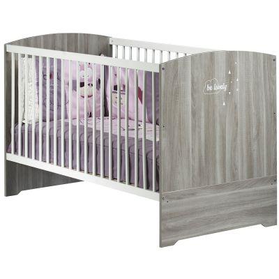 Lit bébé évolutif Little Big Bed Smile chêne silex (70 x 140 cm)