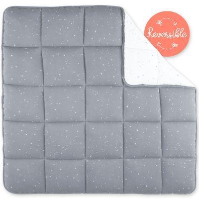 Tapis de parc réversible étoiles Stary frost gris (100 x 100 cm)
