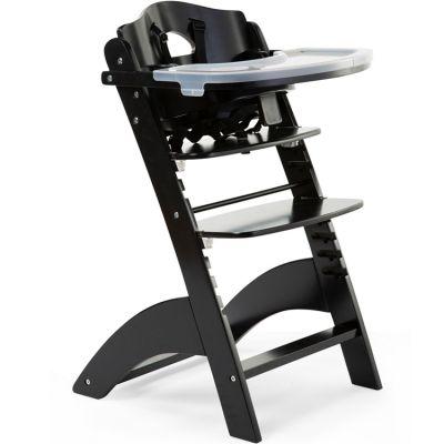 Chaise haute évolutive en bois Lambda 3 noire