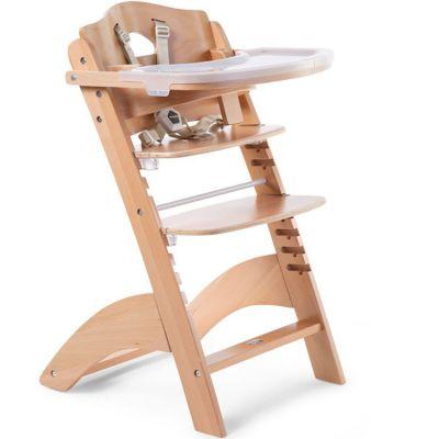 Chaise haute évolutive en bois Lambda 3 naturel