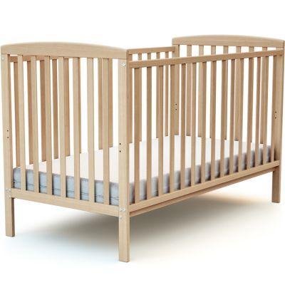 Lit à barreaux en bois de hêtre verni Confort (70 x 140 cm)