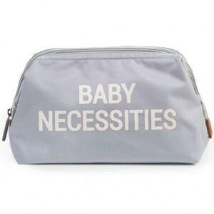 Trousse de toilette Baby necessities gris et blanc - Publicité