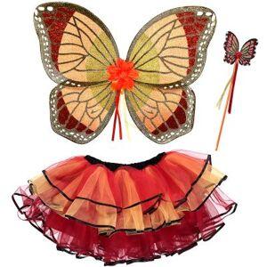 Set de déguisement fée papillon rouge - Publicité