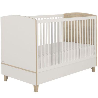 Lit bébé évolutif avec rambarde de sécurité Lora (70 x 140 cm)