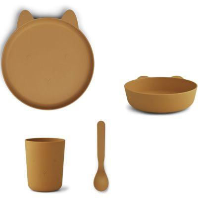 Coffret repas biodégradable Paul lapin moutarde (4 pièces)