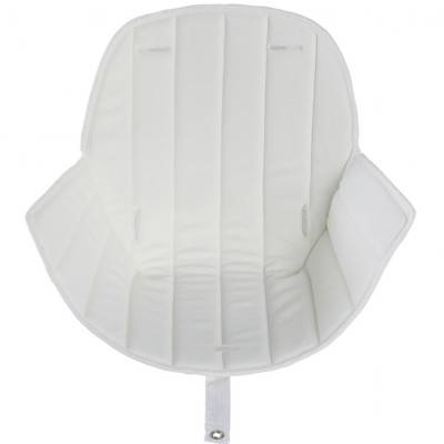 Assise tissu chaise haute Ovo Luxe blanc