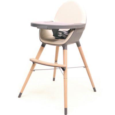 Chaise haute évolutive Essentiel gris et sable