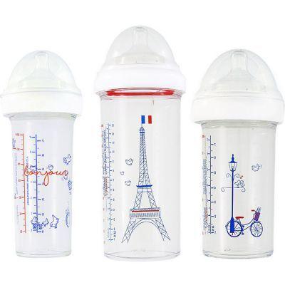 Lot de 3 biberons anti colique gigognes Inès de la Fressange (360 ml et 210 ml)