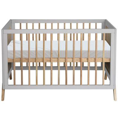 Pack duo lit bébé évolutif et côtés de lit Marelia gris lune (60 x 120 cm)