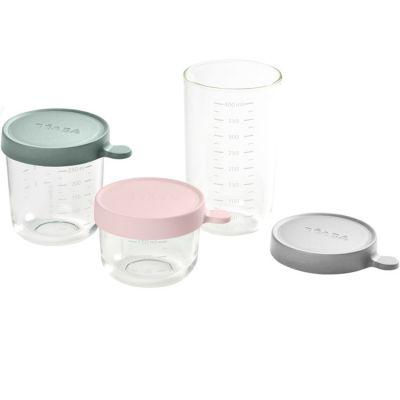 Lot de 3 pots de conservation en verre Portion (150 ml, 250 ml et 400 ml)
