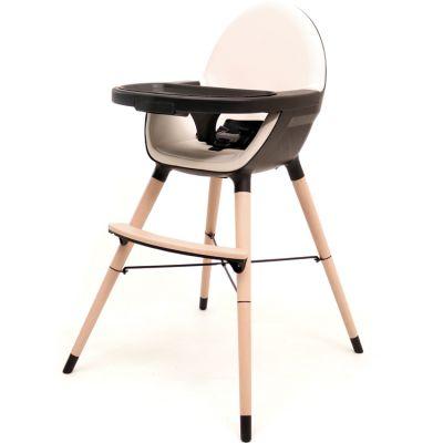 Chaise haute évolutive Essentiel plus noir et sable