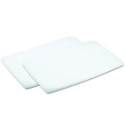 Lot de 2 draps housses nouveau-né blancs pour matelas de lit de voyage 3 en 1 Swift