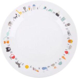 Assiette en porcelaine avec ventouse ABC - Publicité