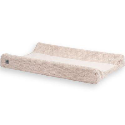 Housse de matelas à langer en tricot rose pâle (50 x 70 cm)