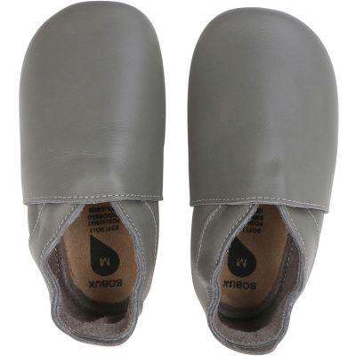 Chaussons bébé en cuir Soft soles Classic gris (9-15 mois)