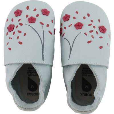 Chaussons bébé en cuir Soft soles Fleur de cerisier (3-9 mois)