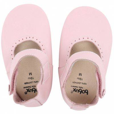 Chaussons en cuir Soft soles rose clair Mary Jane (15-21 mois)