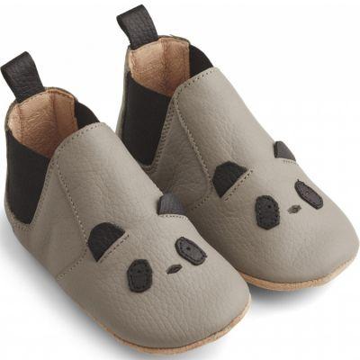 Chaussons bébé en cuir Edith Panda grey (pointure 21)