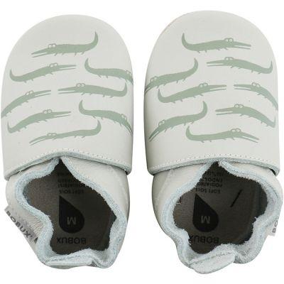 Chaussons bébé en cuir Soft soles Crocodile (3-9 mois)