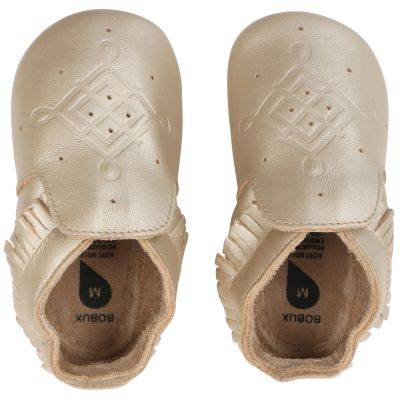 Chaussons bébé en cuir Soft soles doré (15-27 mois)