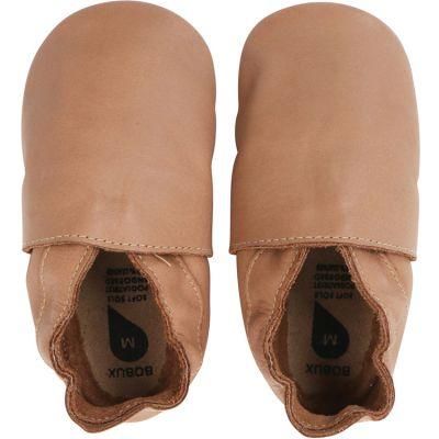 Chaussons bébé en cuir Soft soles Classic caramel (9-15 mois)
