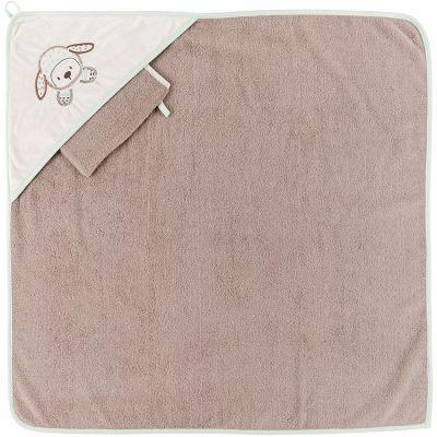 Cape de bain + gant Tim le mouton (75 x 75 cm)