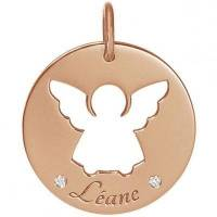 Médaille Léane personnalisable 17,5 mm (or rose 750°) <br /><b>320.00 EUR</b> Berceau Magique