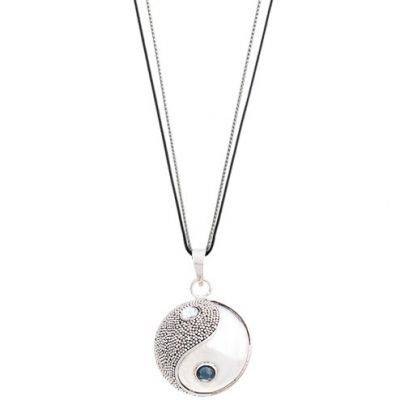Bola sur cordon Equilibre Suara (argent 925° et cristal Swarovski)