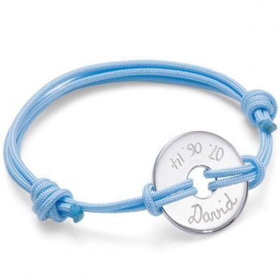 Bracelet enfant sur cordon Cible personnalisable (argent 925°)