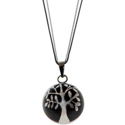 Bola sur cordon Estrella Color noir (argent 925°)