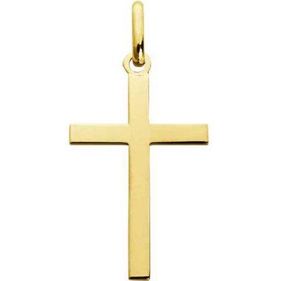 Croix 20 x 13 mm polie (or jaune 750°)