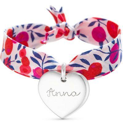 Bracelet enfant Liberty avec coeur personnalisable (argent 925°)