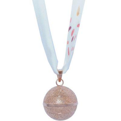 Bola sur ruban Liberty Vera (plaqué or rose)