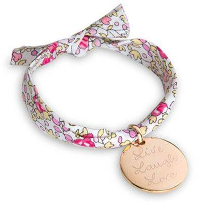 Bracelet enfant Liberty avec médaille personnalisable (plaqué or)