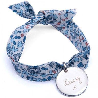 Bracelet enfant Liberty avec médaille personnalisable (argent 925°)
