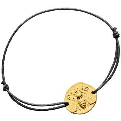 Bracelet cordon l'Abeille d'Ephèse (or jaune 750°)