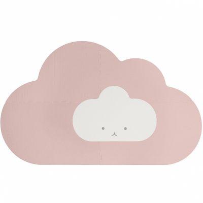 Tapis de jeu pliable nuage rose poudré (145 x 90 cm)