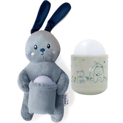 Coffret peluche et veilleuse nomade mimi bunny