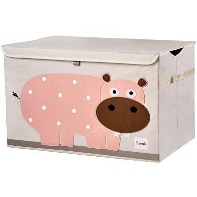 Coffre à jouets caisse de rangement Hippopotame