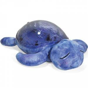 Veilleuse peluche tortue tranquille bleu marine - Publicité