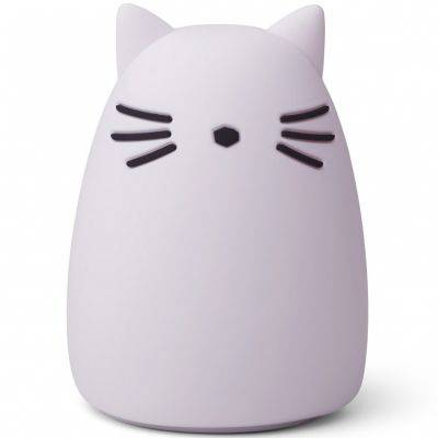 Veilleuse Winston chat lavender (14 cm)