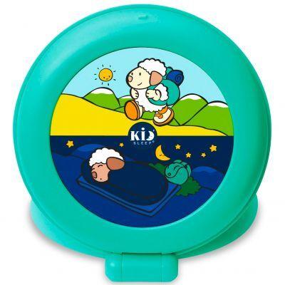Veilleuse indicateur de réveil Kid'Sleep Globetrotter avec présentoir turquoise