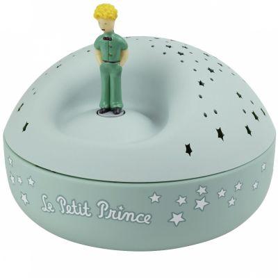 Veilleuse projecteur d'étoiles musical Le Petit Prince (12 cm)
