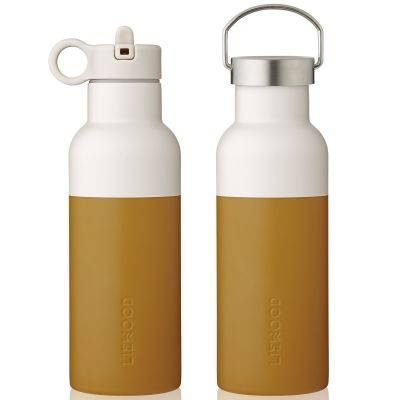 Thermos Gourde isotherme Neo moutarde et écru (500 ml)